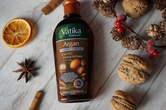 Vatika Naturals arganowy olejek do włosów suchych i potrzebujących odżywienia