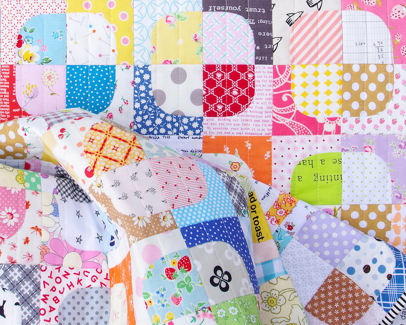 Squircles Quilt ~ Templates available ~ © Red Pepper Quilts 2017