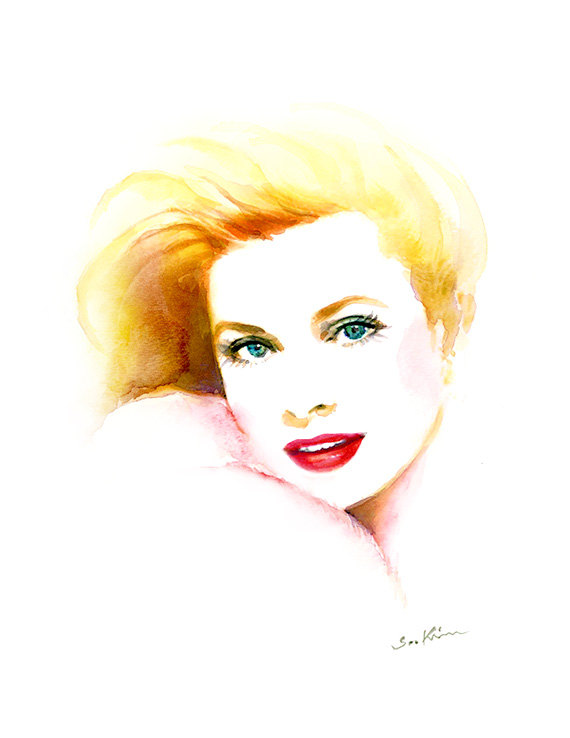 08-Grace-Kelly-Soo-Kim-Celebrity-Watercolor-Portraits-www-designstack-co