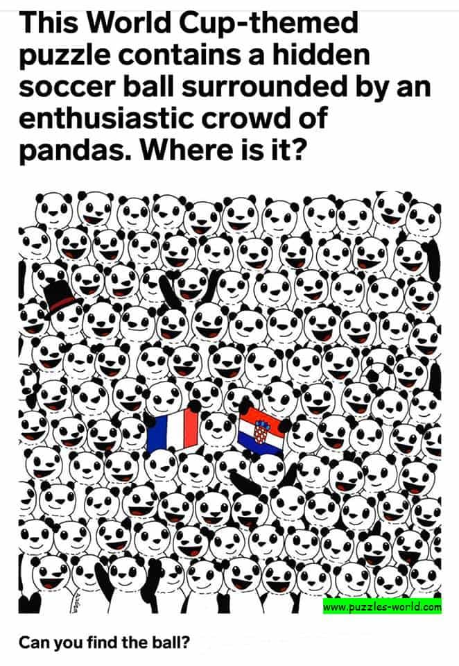 Find the Ball in the crowd of Pandas