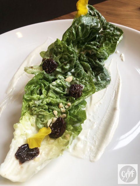 Butter gem lettuce salad at Oak and Rowan, a restaurant in Fort Point, Boston, MA