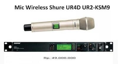 Shure UR24S/KSM9 Handheld Wireless Harga