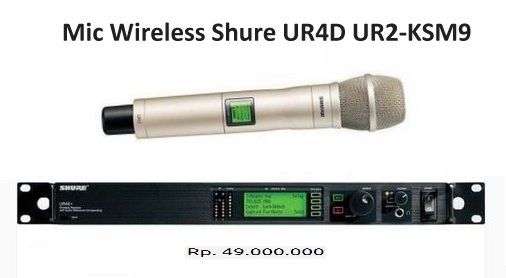 Shure UR24S/KSM9 Handheld Wireless Harga