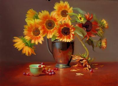 girasoles-impresionismo-flores-realistas