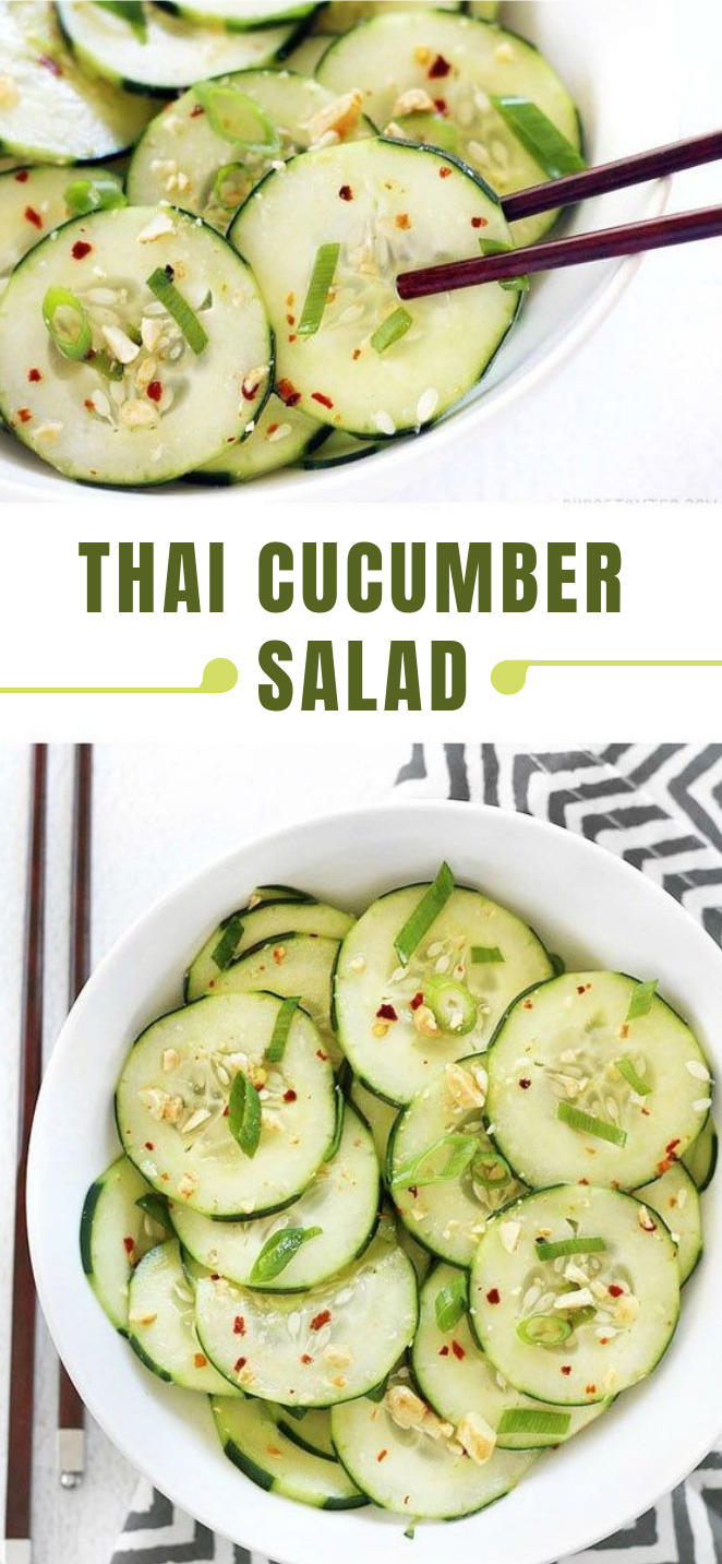 THAI CUCUMBER SALAD #salad #vegetarian