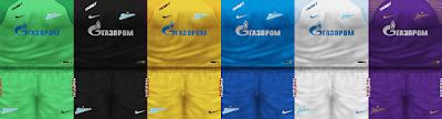 PES 6 Kits FC Zenit Saint Petersburg Season 2018/2019 by VillaPilla