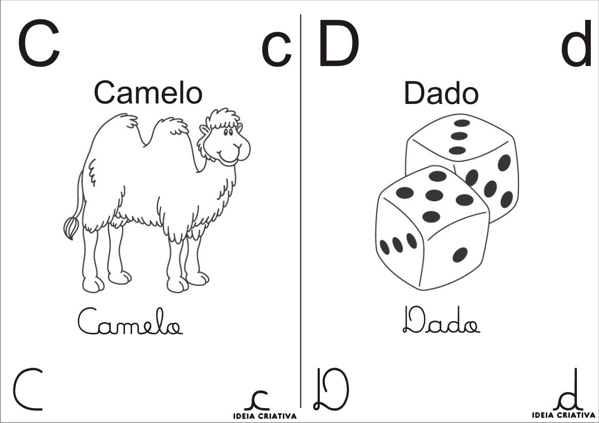 Alfabeto Para Colorir 4 Tipos De Letra Meio Oficio