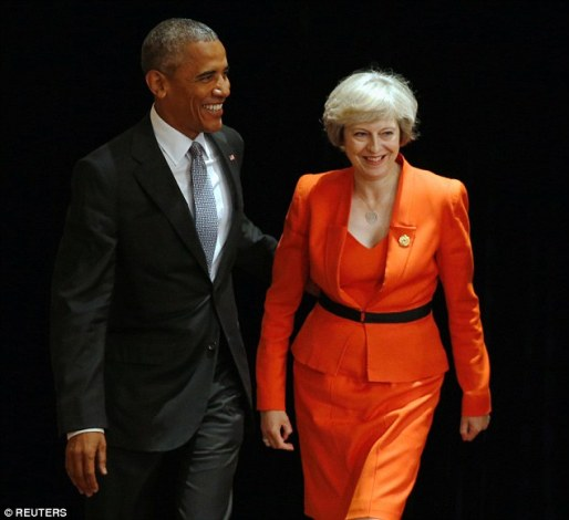 British PM Theresa May meets Obama and other world leaders for the first time (photos)
