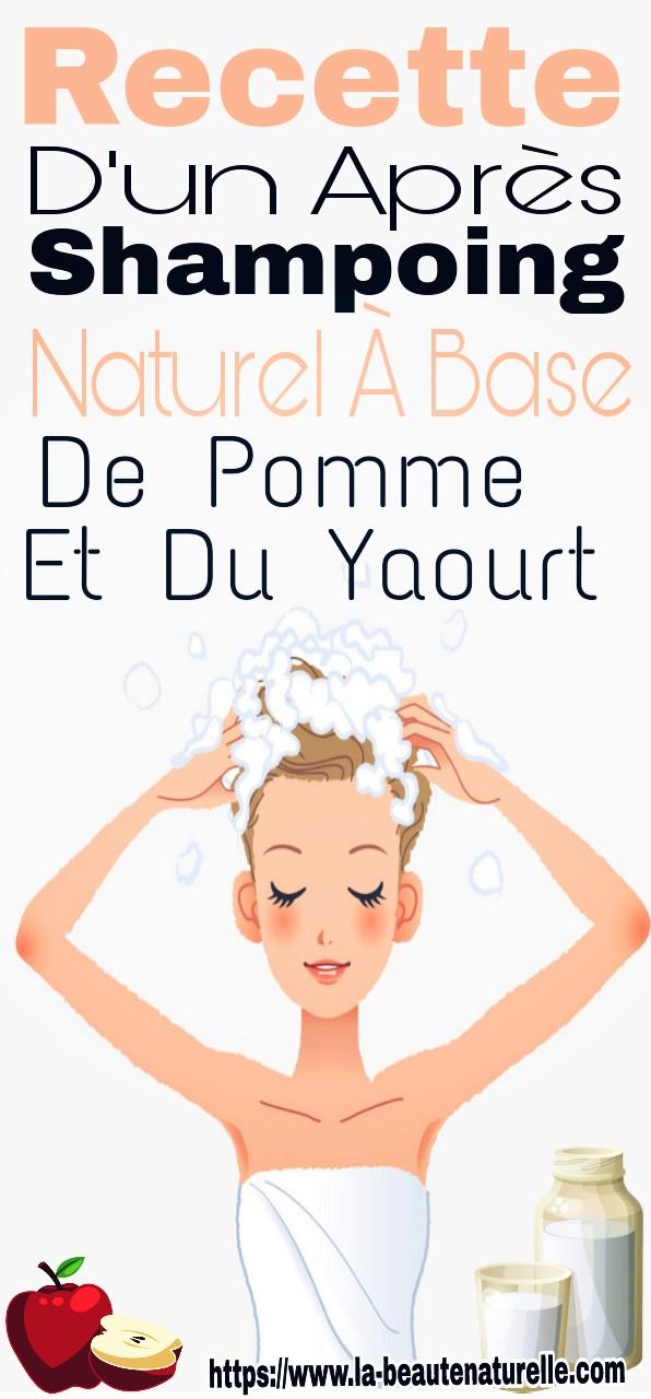Recette d'un après shampoing naturel à base de pomme et du yaourt