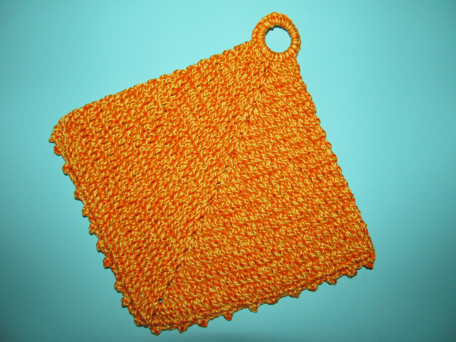 Simply Crochet And Other Crafts Double Sided Diagonal Pot Holder