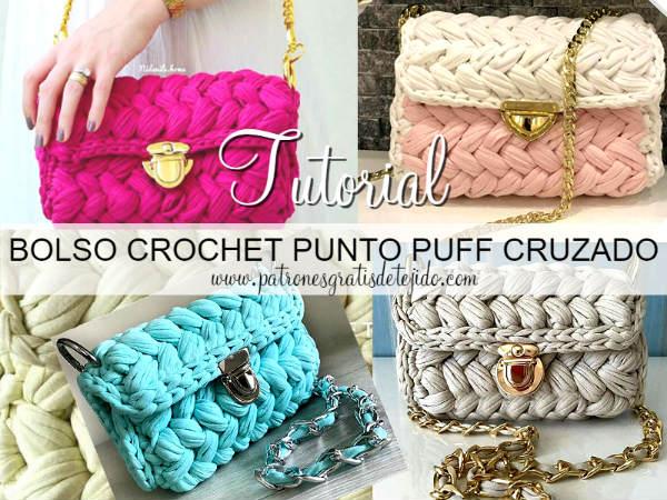 Crochet y dos agujas patrones de tejido - Como hacer un puff de trapillo ...