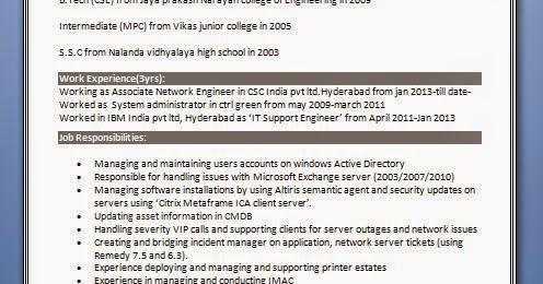 Professional Engineer Resume Format