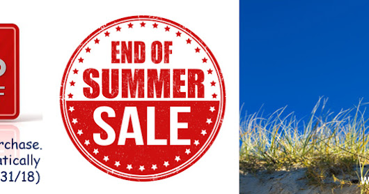 End Of Summer Sale 2018