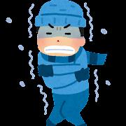 寒い外のイラスト(男性)