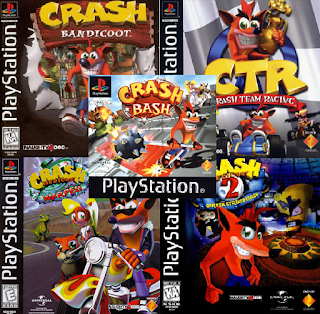 Ps1 Portables Coleccion Crash Bandicoot 1 2 3 Team Racing Y Bash