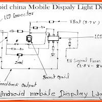 Samsung G360H Display Light Section Diagram | Samsung Mobile LCD