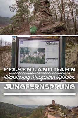 Felsenland Dahn | Wanderung Burgruine Altdahn – Jungfernsprung | Wandern Südwestpfalz Wasgau | Tourenportal - Tourenplanung inkl. GPS-Track