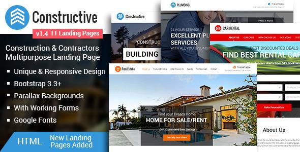 Download Constructive Contractors Multipurpose HTML Landing Page Responsive