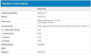 Harga dan Spesifikasi Nokia D1C