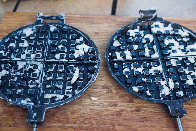 Gear of the Week #GOTW KW 07  ROME Chuckwagon Waffeleisen  Cast-Iron Waffle-Iron  Outdoor-Waffeleisen 09