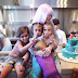 North West and Cousin Penelope Disick Throw a Joint Mermaid Themed party
