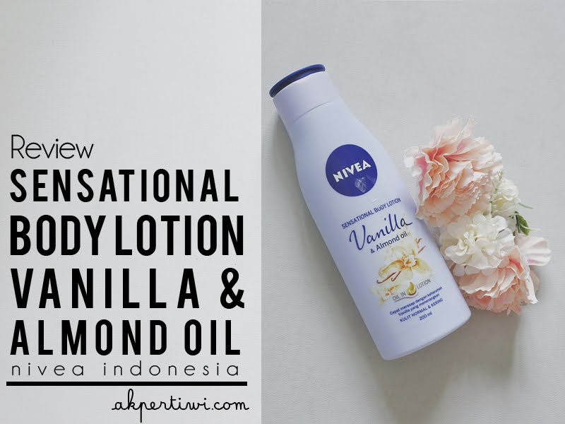 nivea sensational body lotion vanilla & almond oil