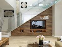 Ideas para ahorrar espacio debajo de la escalera television
