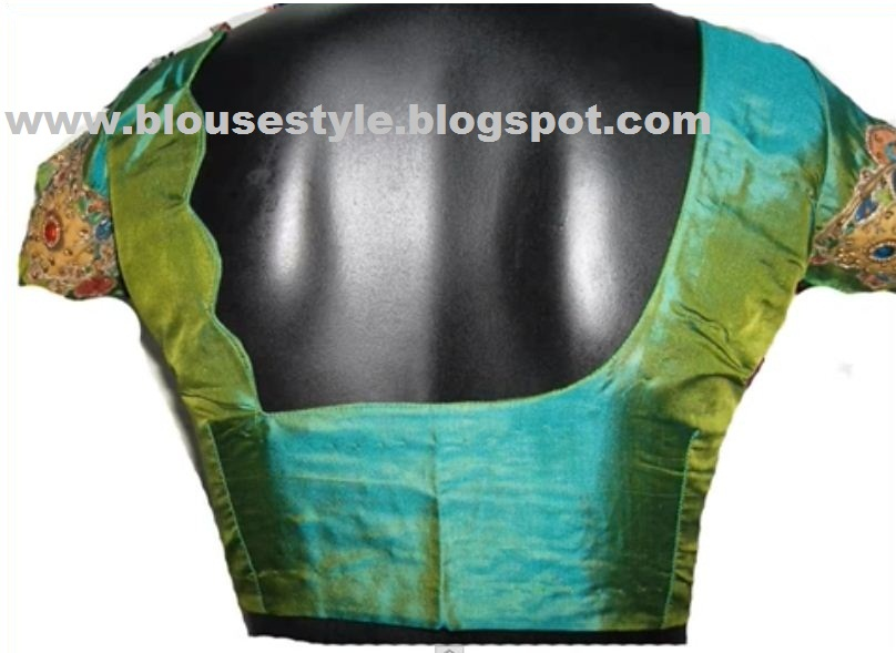 Back Neck Blouse Ready Made And Customized Designer Blouse