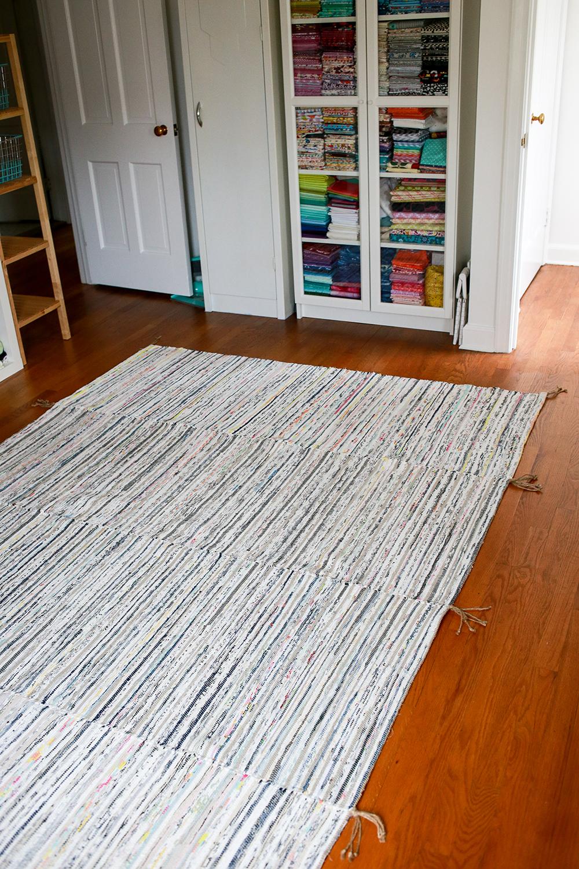 In Color Order Diy Sewing Room Scrap Rug