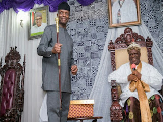 Yemi Osinbajo conferred with highest traditional title in calabar