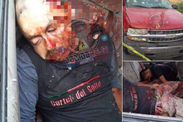 Reclaman cuerpos dos sicarios del CDG acribillados durante enfrentamiento en Reynosa.