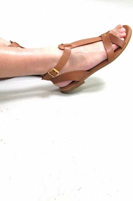 Sandales cognac Rivecour