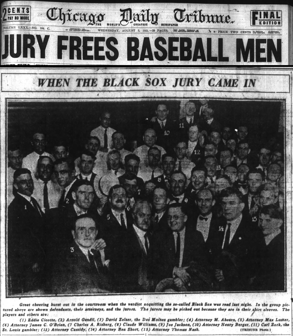 uncle scoopy s ballpark the black sox part i bucky on the other hand many journalists of the day were shocked by the verdict because several of the players had confessed their participation in the fix
