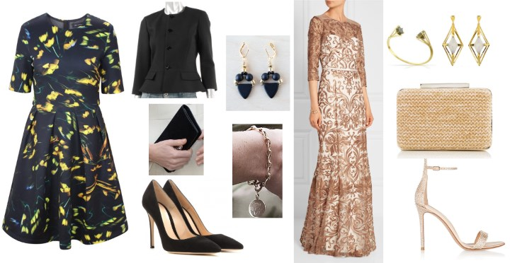 Amelia - Amelia styled a look for an evening gala with the Roland Mouret  Rocher Gown with delicate hand-sewn flowers and Kate's Gianvtio Rossi  Crisscross ...