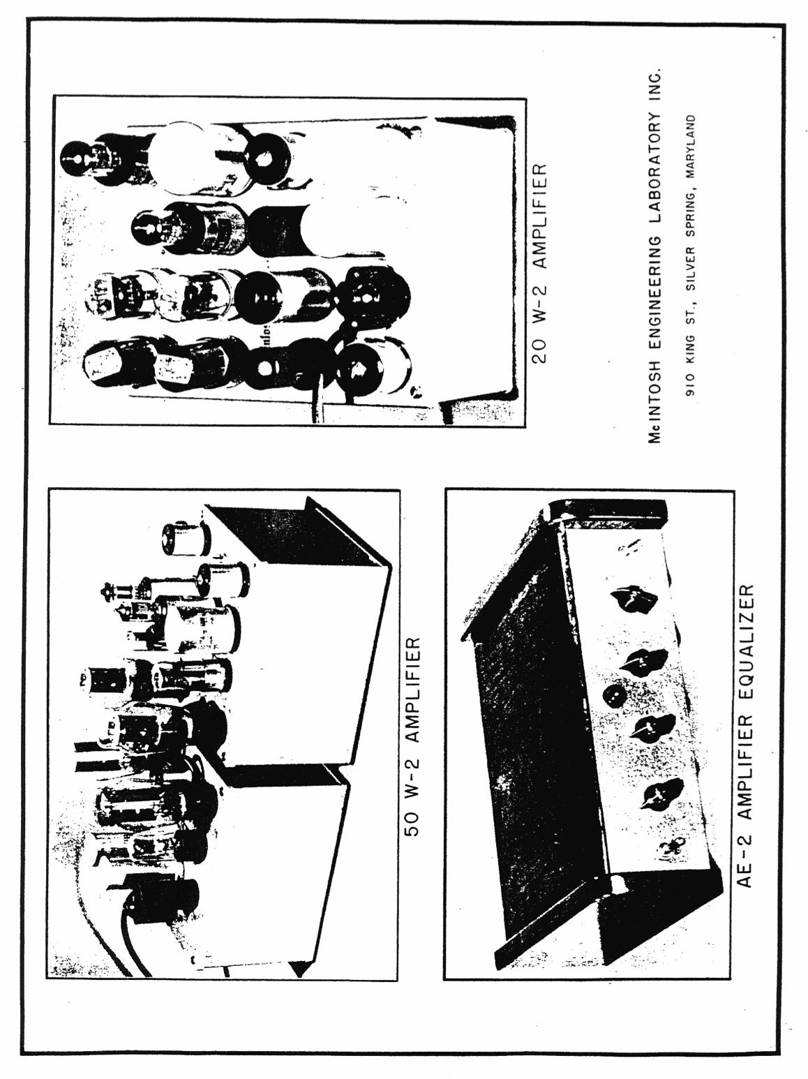 Retro Vintage Modern Hi Fi Mcintosh New 50 Watt Amplifier