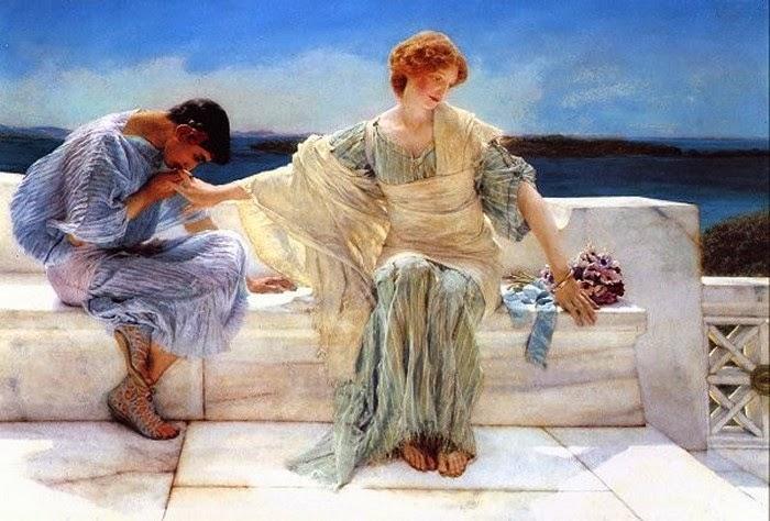 Não Me Perguntes Mais - As mais belas pinturas de Lawrence Alma-Tadema - (Neoclassicismo)