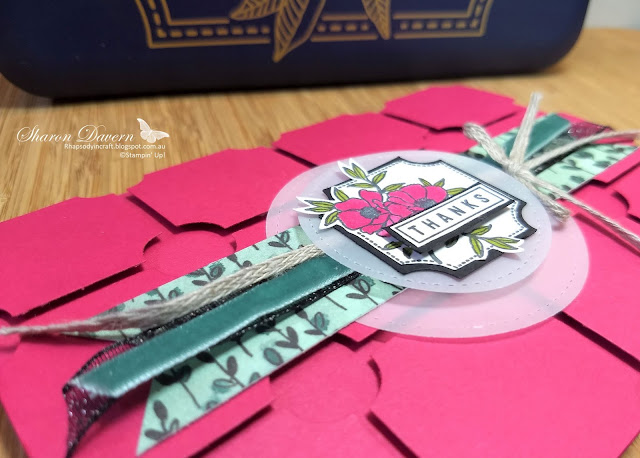 Darling Label Punch, Lovely Lipstick, Rhapsody in craft, Thank you cards, AWH colour creations