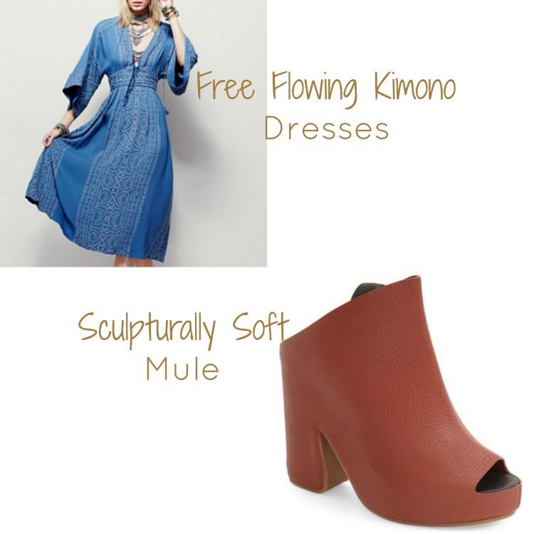 Summer Styles Mood Vibe Flowy Kimonos Slingback Open Toe Mules