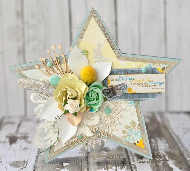 star card @akonitt #card #by_marina_gridasova #prima #flowers @chipboard #wycinanka