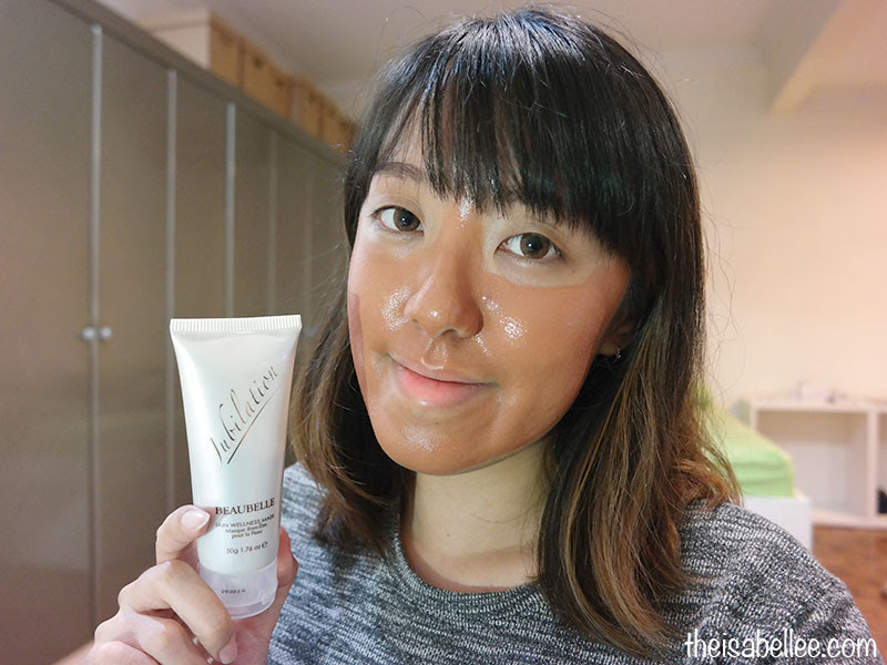 Using Beaubelle Jubilation Skin Wellness Mask