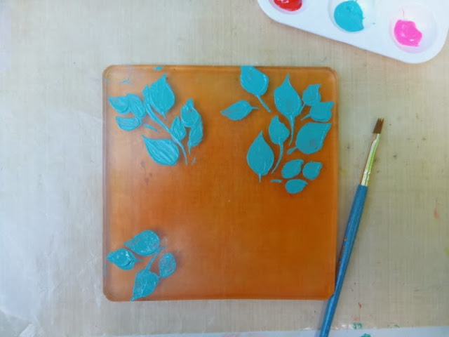 How to Paint on a Gel Plate with a Paintbrush