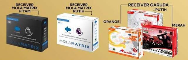 Beberapa receiver matrix garuda