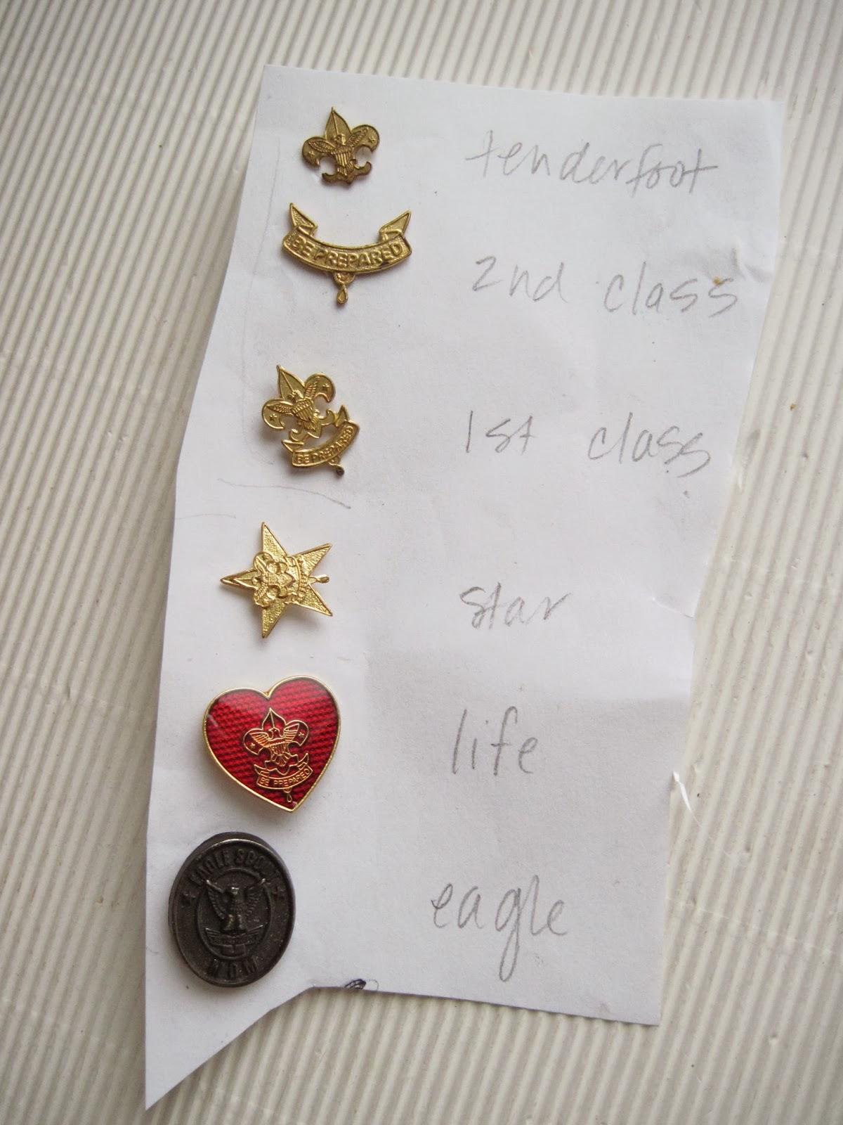 East Street Pins Custom Boy Scout Rank Necklace