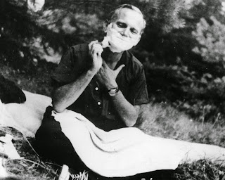 Pope John-Paul II shaving