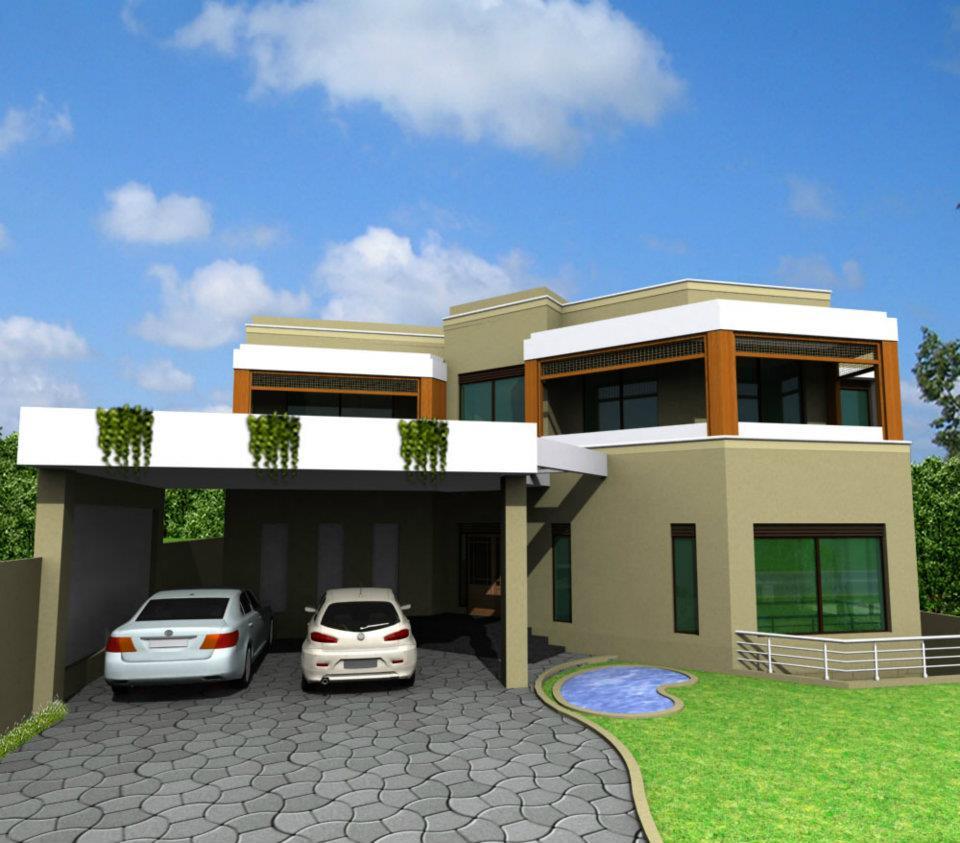 Modern Pakistani Home Front Elevation