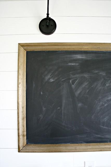 DIY HUGE chalkboard for homeschooling