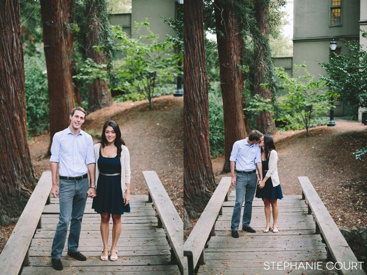 engagement photos at uc berkeley