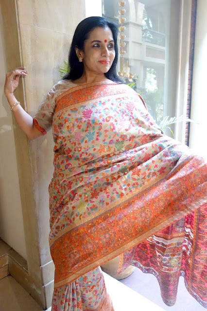 Orange maple kani saree