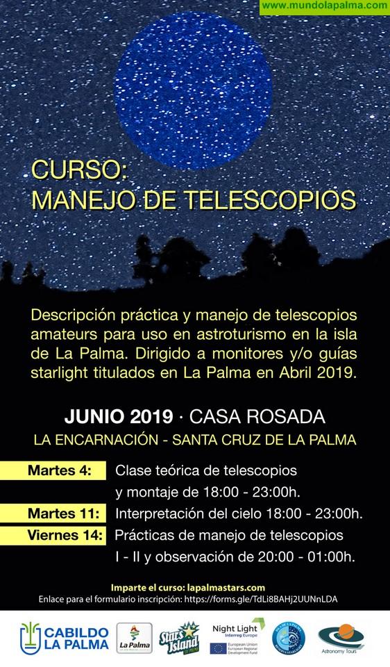 Turismo La Palma ofrece formación sobre el manejo de telescopios a los guías y monitores Starlight