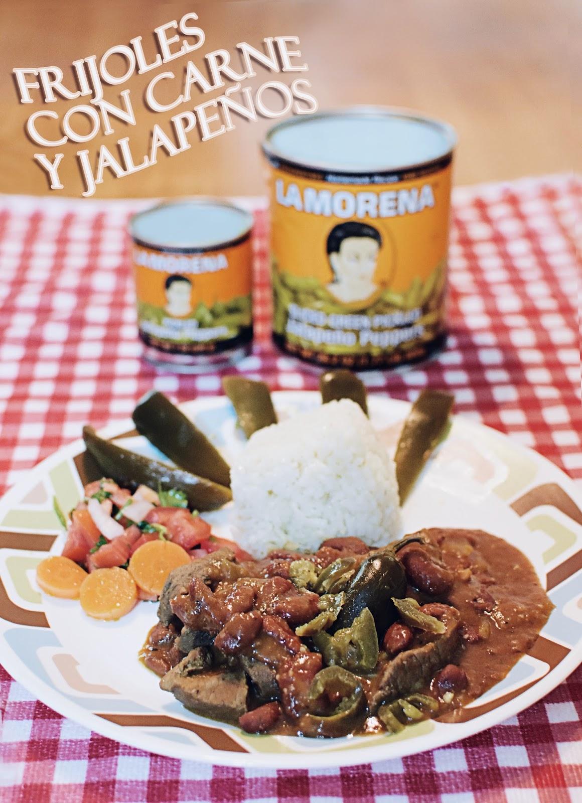 Frijoles Con Carne y Jalapeños con la Morena by Mari Estilo
